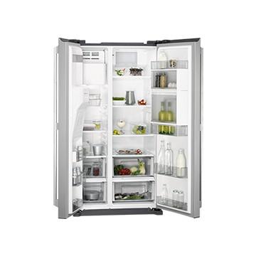 Volně stojící spotřebiče - AEG RMB66111NX americká lednice