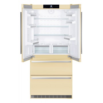 Volně stojící spotřebiče - Liebherr CBNBE 6256, Kombinovaná chladnička, béžová