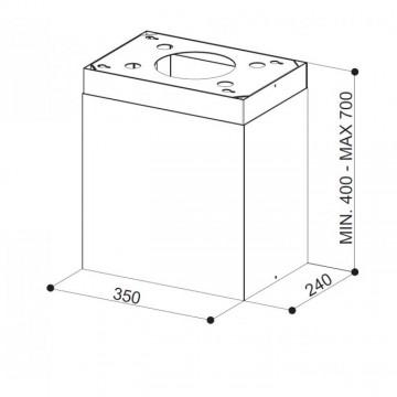 Příslušenství ke spotřebičům - Faber Komín s konstrukcí Thea Isola WH bílá mat
