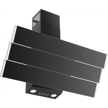 Vestavné spotřebiče - Kluge KMS9010BLG komínový odsavač par, černý/nerez, šířka 90 cm