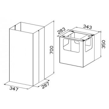 Příslušenství ke spotřebičům - Faber Prodloužený komín X s kontrukcí 620000308