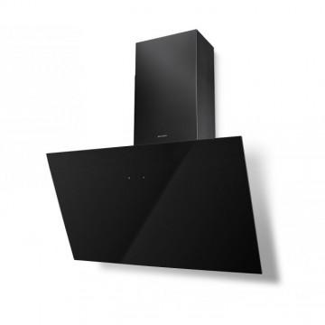 Vestavné spotřebiče - Faber TWEET EV8 BK A80  - komínový odsavač, černá / černé sklo, šířka 80cm