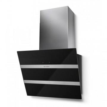 Vestavné spotřebiče - Faber STEELMAX EV8 BK/X A55  - komínový odsavač, černá / černé sklo, šířka 55cm