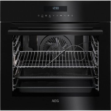 Vestavné spotřebiče - AEG Mastery SenseCook BPE742320B Special Black, vestavná pyrolytická trouba s dotykovým ovládáním a teplotní sondou, A+