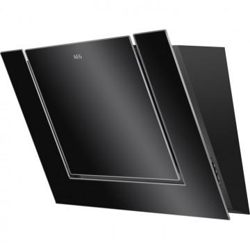 Vestavné spotřebiče - AEG Mastery DVB3850B nástěnný komínový odsavač, černý, 80 cm
