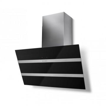 Vestavné spotřebiče - Faber STEELMAX EV8 BK/X A80  - komínový odsavač, černá / černé sklo, šířka 80cm