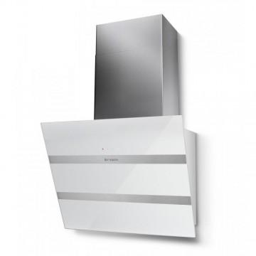 Vestavné spotřebiče - Faber STEELMAX EV8 WH/X A55  - komínový odsavač, bílá / bílé sklo, šířka 55cm
