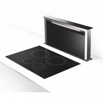 Vestavné spotřebiče - Faber FABULA PLUS EV8 BK A90  - odsavač výsuvný z pracovní desky, nerez / černé sklo, šířka 90cm