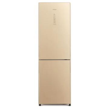 Volně stojící spotřebiče - Hitachi R-BG410PRU6X-GBE Kombinovaná chladnička , NoFrost, béžová, A++, 7 let záruka