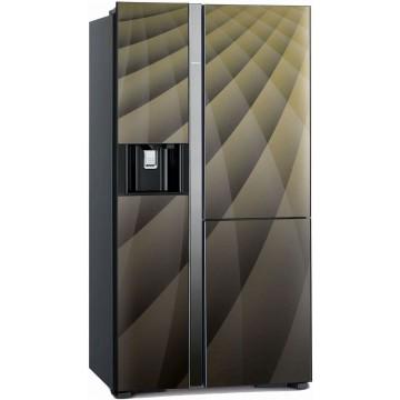 Volně stojící spotřebiče - Hitachi R-M700AGPRU4X-DIA side-by-side, třídveřová, No Frost, IceMaker, A++, 7 let záruka