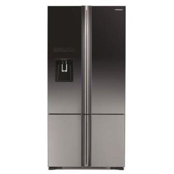 Volně stojící spotřebiče - Hitachi R-WB730PRU6X-XGR side-by-side, čtyřdveřová, NoFrost, výrobník ledu, A++, 7 let záruka