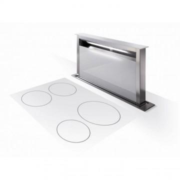 Vestavné spotřebiče - Faber FABULA PLUS EV8 WH A90  - odsavač výsuvný z pracovní desky, nerez / bílé sklo, šířka 90cm
