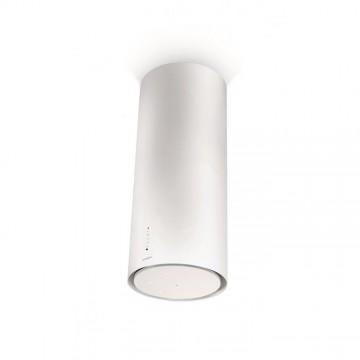 Vestavné spotřebiče - Faber CYLINDRA ISOLA GLOSS PLUS EV8 WH A37  - ostrůvkový odsavač, bílá, šířka 37cm
