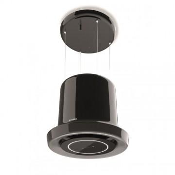 Vestavné spotřebiče - Faber GLOW BK GLOSS KL  - lustrový odsavač, lesklá černá, šířka 65cm