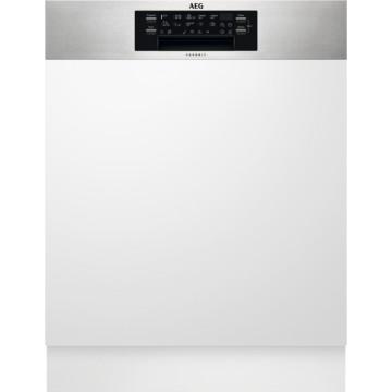 Vestavné spotřebiče - AEG Mastery FEE83716PM vestavná myčka nádobí s panelem, příborová zásuvka, vnitřní osvětlení, 60 cm, A+++