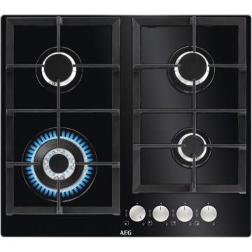 Vestavné spotřebiče - AEG Mastery HKB64440NB varná plynová deska, černá, 59 cm