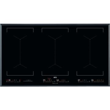 Vestavné spotřebiče - AEG Mastery IKE96654FB indukční varná deska se zkosenou hranou, Hob2Hood, černá, šířka 91 cm