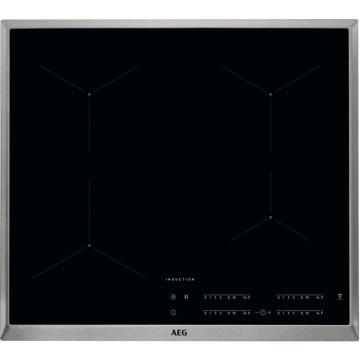 Vestavné spotřebiče - AEG Mastery IKB64431XB indukční varná deska s rámečkem, Hob2Hood, černá, šířka 58 cm