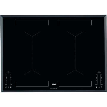 Vestavné spotřebiče - AEG Mastery IKE74451FB indukční varná deska se zkosenou hranou, Hob2Hood, černá, šířka 71 cm