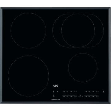 Vestavné spotřebiče - AEG Mastery IKB64413FB indukční varná deska se zkosenou hranou, Hob2Hood, černá, šířka 59 cm