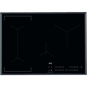 Vestavné spotřebiče - AEG Mastery IKE74441FB indukční varná deska se zkosenou hranou, Hob2Hood, černá, šířka 71 cm