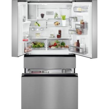 Volně stojící spotřebiče - AEG RMB96716CX chladnička/mraznička francouzského typu, CustomFlex, NoFrost,  A+