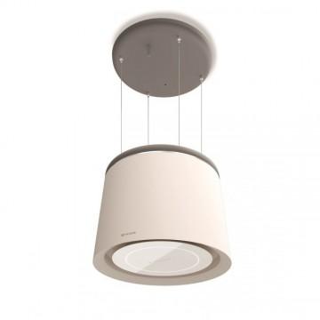 Vestavné spotřebiče - Faber CELINE WW/CG MATT  - lustrový odsavač, bílá mat / cementově šedá mat, šířka 60cm