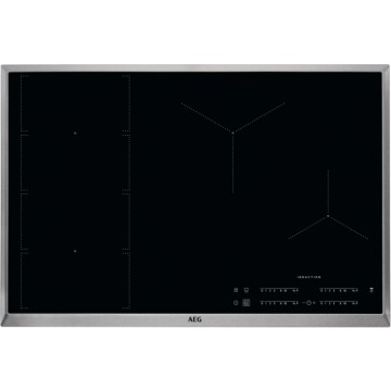 Vestavné spotřebiče - AEG Mastery IKE84471XB indukční varná deska s rámečkem, Hob2Hood, černá, šířka 77 cm