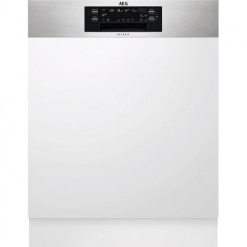 Vestavné spotřebiče - AEG Mastery FEE62700PM vestavná myčka nádobí s panelem, příborová zásuvka, 60 cm
