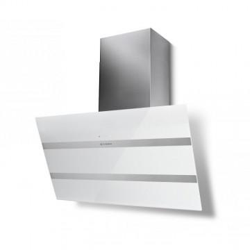 Vestavné spotřebiče - Faber STEELMAX EV8 WH/X A80  - komínový odsavač, bílá / bílé sklo, šířka 80cm