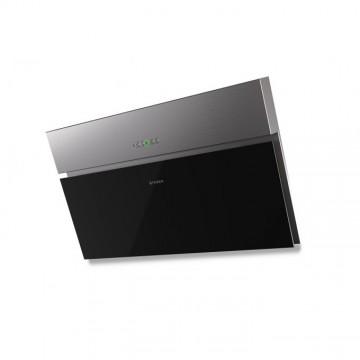 Vestavné spotřebiče - Faber ONYX-V X/V A90  - komínový odsavač, černé sklo / nerez, šířka 90cm
