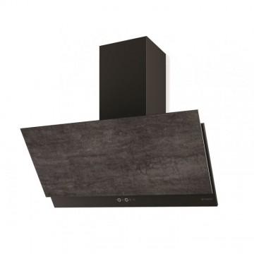 Vestavné spotřebiče - Faber GREXIA GRES DG/BK A90  - komínový odsavač, černá / tmavě šedá kamenina, šířka 90cm