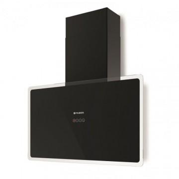 Vestavné spotřebiče - Faber GLAM-FIT BK A80  - komínový odsavač, černá / černé sklo s transparentním okrajem, šířka 80cm