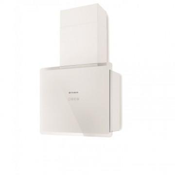 Vestavné spotřebiče - Faber GLAM-FIT WH A55  - komínový odsavač, bílá / bílé sklo s transparentním okrajem, šířka 55cm