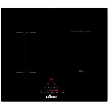 Vestavné spotřebiče - Lord H2 indukční varná deska, Flexizóna, černá, 59cm