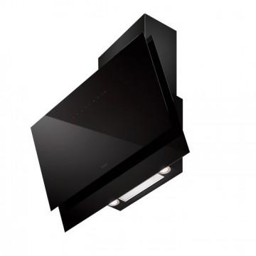 Vestavné spotřebiče - Faber BLACK TIE BRS PLUS BK A80  - komínový odsavač, černá / černé sklo, šířka 80cm