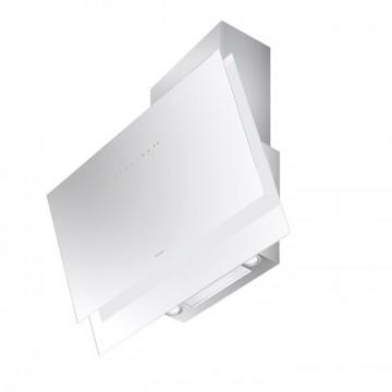 Vestavné spotřebiče - Faber BLACK TIE BRS PLUS WH A80  - komínový odsavač, nerez / bílé sklo, šířka 80cm