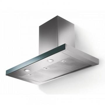 Vestavné spotřebiče - Faber LOOK PLUS BRS X/V A90  - komínový odsavač, nerez / černé sklo, šířka 90cm