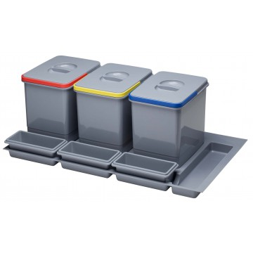 Odpadkové koše - Sinks PRACTIKO 900 3x15l