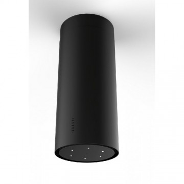 Vestavné spotřebiče - Faber CYLINDRA ISOLA PLUS EV8 BK MATT A37  - ostrůvkový odsavač, černá mat, šířka 37cm