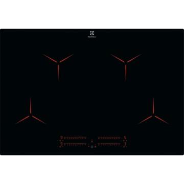 Vestavné spotřebiče - Electrolux EIP8146I indukční varná deska zapustitelná do roviny, Hob2Hood, PURE, černá, šířka 77 cm