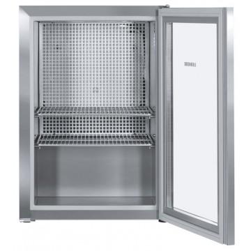 Volně stojící spotřebiče - Liebherr CMes 502 CoolMini, chl. 45 l, prosklené dveře, nerezová