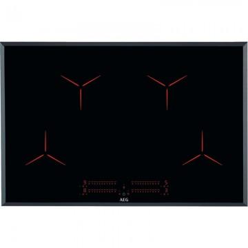 Vestavné spotřebiče - AEG Mastery IPE84531FB indukční varná deska Pure, Hob2Hood, černá, 80 cm