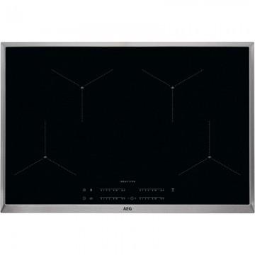 Vestavné spotřebiče - AEG Mastery IAE84411XB indukční varná deska SenseBoil, s rámečkem, Hob2Hood, černá, 80 cm