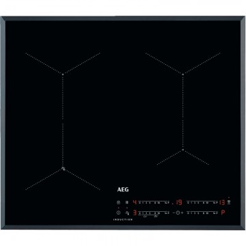 Vestavné spotřebiče - AEG Mastery IAE64431FB indukční varná deska SENSEFRY, Hob2Hood, černá, 60 cm