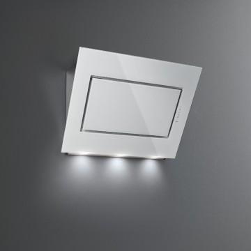 Vestavné spotřebiče - Falmec QUASAR DESIGN Wall - nástěnný odsavač, 90 cm, bílé sklo/nerez, 800 m3