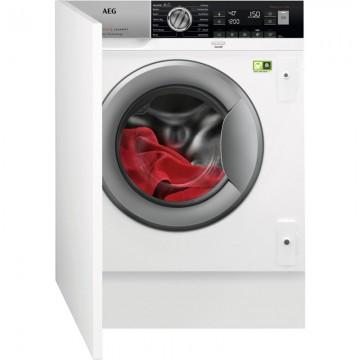 Vestavné spotřebiče - AEG L8FBE48SI vestavná pračka předem plněná, technologie ÖKOMix,  A+++ -40%