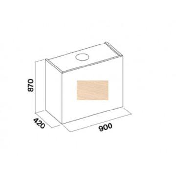 Vestavné spotřebiče - Falmec LAGUNA DESIGN Wall - nástěnný odsavač, šířka 90 cm, bez dřevěného obkladu, 800 m3/h