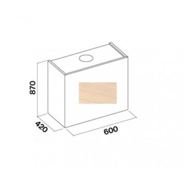 Vestavné spotřebiče - Falmec LAGUNA DESIGN Wall - nástěnný odsavač, šířka 60 cm, bez dřevěného obkladu, 800 m3/h