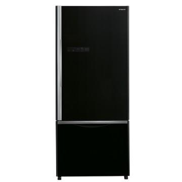 Volně stojící spotřebiče - Hitachi R-B570PRU7-GBK Kombinovaná dvoudveřová chladnička s mrazničkou, šířka 75 cm, A++, 7 let záruka
